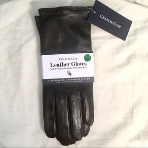 Leather Gloves with Touchscreen (Charter Club NEW)